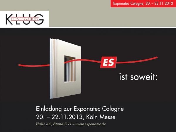 exponatec 2013 - einladung zur messe - klug-conservation, Einladung